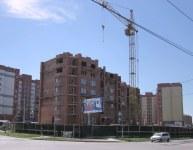 Строящийся дом, ул. Рогачёва, 18стр